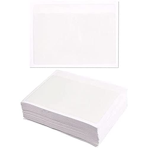 100 Pack Clear Label Holders for 4x6 Index Cards, Self-Adhesive Pockets, Sleeves for Boxes, Containers, Storage Bins