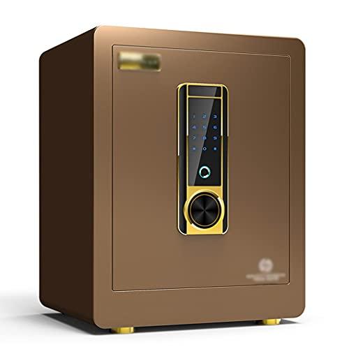 Cassaforte Password Con Impronta Digitale Home Office Cassaforte Invisibile A Parete Piccolo Allarme Antifurto Cassetta Di Sicurezza Sblocco Con Impronta Digitale ( Color : Brown , Size : 38*32*45cm )