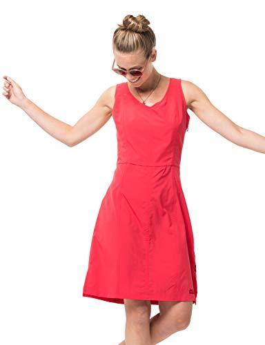 Jack Wolfskin Damen Costa Calma Dress Kleid, Tulip Red, L