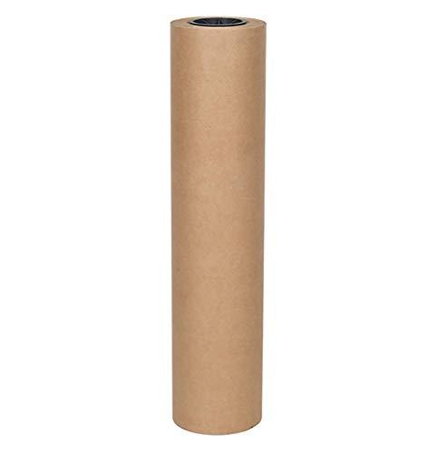 GHDE& Kraft Paper Roll Holder, Wall Mounted Kraft Paper Roll Display en Zwarte Beugel Houder voor Lijst, Menus, Schilderij Wanddecoratie (67cm/26.3 Inches)