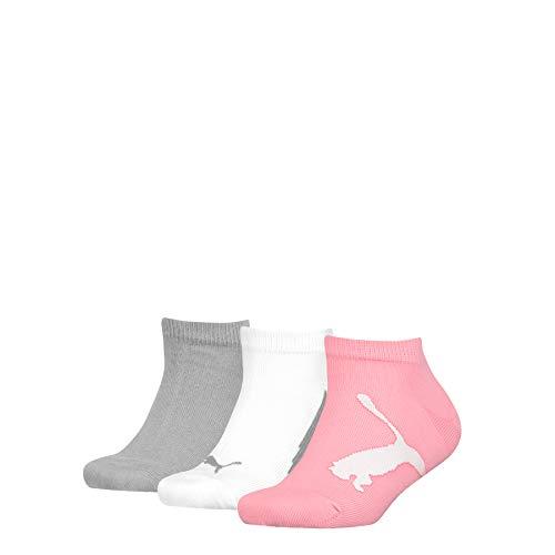 PUMA Unisex-Child Kids' BWT Sneaker-Trainer (3 Pack) Socks, pink/Grey, 27/30 EU
