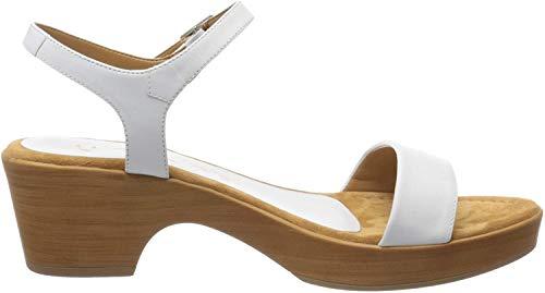 Unisa Irita_20_na, Sandalias con Plataforma para Mujer, Blanco (White White), 40 EU