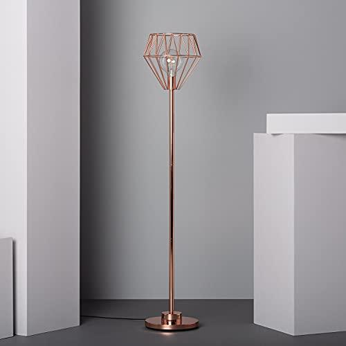 LEDKIA LIGHTING Lámpara de Pie Fugalaau 1500xØ300 mm Cobre E27 Casquillo Gordo Aluminio Decoración Salón, Habitación, Dormitorio