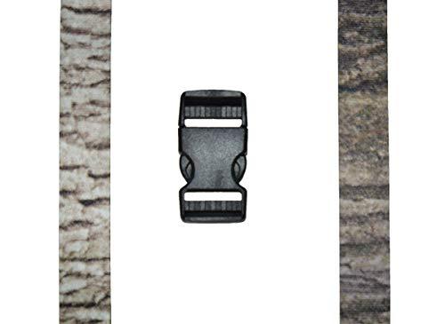 Timberblend Tree Bark Camouflage Trail Game Camera Strap 2 Pattern Reversible (White Oak/Red Oak)