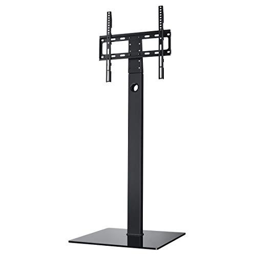 Hama Fernsehständer höhenverstellbar (TV-Standfuß universal für 32-65 Zoll Fernseher, bis 35 kg, TV-Halterung schwenkbar, Bodenplatte aus Sicherheitsglas, VESA bis 400x400) schwarz