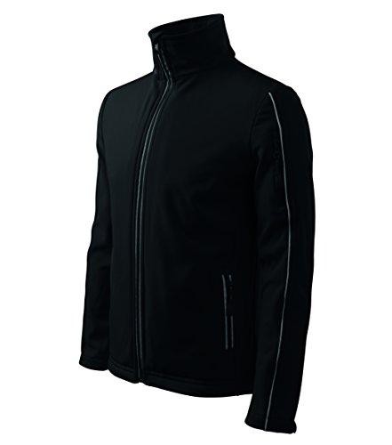 OwnDesigner by Adler Basic Herren Softshell Jacke - Winddichte Funktions-Jacke Wasserabweisend Atmungsaktiv (511-Schwarz-L)
