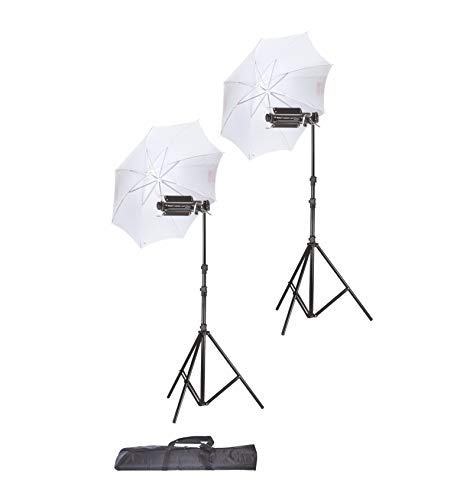 SimpexPorta Kit with a Pair of Light Stand 9 Feet and Umbrella for Video and Still Photography
