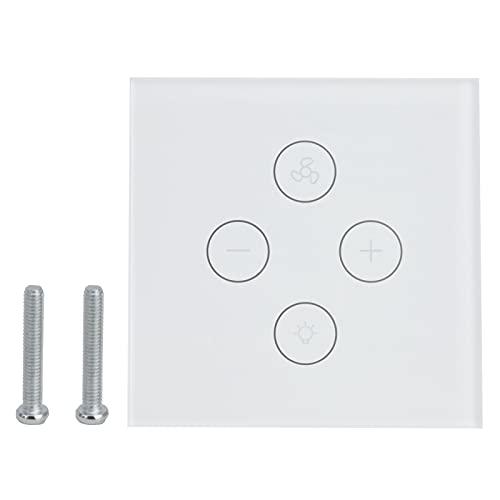 Interruptor de luz táctil de Pared Inteligente WiFi Control de Voz Control táctil Interruptor de luz de Ventilador Interruptor de luz Inteligente Multifuncional para Google Home