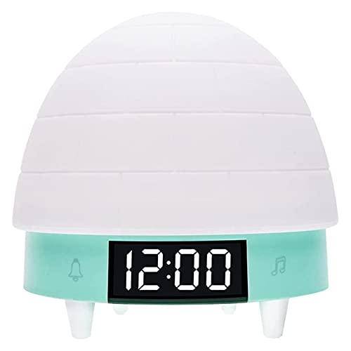 SFLRW Reloj despertador de niños, proyector estrella luz de alarma de luz de noche para niños, DIRIGIÓ Reloj de luz nocturno Despierta Fácil configuración de viaje digital, proyección de techo Música