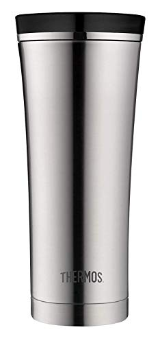 THERMOS Thermobecher Premium, Kaffeebecher to go Edelstahl mattiert 470ml, Isolierbecher spülmaschinenfest, dicht, 4004.205.047, Coffee to Go 5 Stunden heiß, 9 Stunden kalt, BPA-Free