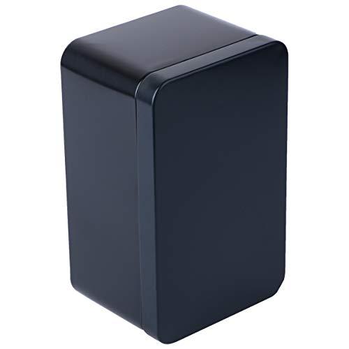 Yardwe Blechdosen Quadratische Box mit Deckel Metallboxen Leerdose Behälter Geschenkbox für Tee Kerzen Bonbons 13x8x6cm (Schwarz)