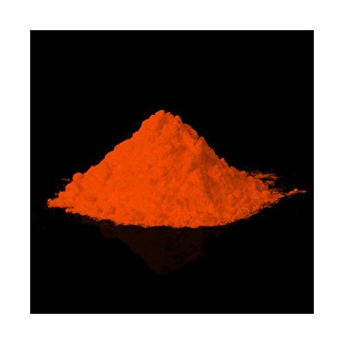 lumentics Glühpulver Orange - Leuchtpigmente, Selbstleuchtende Farbpigmente, Nachleuchtpulver, Nachtleuchtpulver, UV Farbpulver, Nachleuchtpigment, Nachleucht-Pigment (40g, Orange, Sulfit)