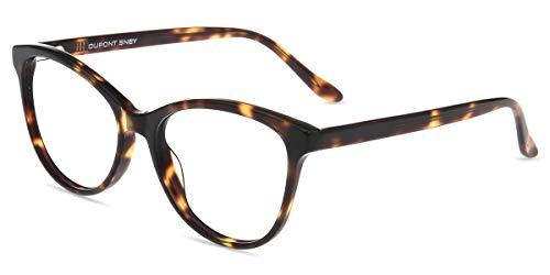 Firmoo Blaulichtfilter Brille Damen Katzenaugen Leopardenmuster, Blaulichtfilter Computer Brille ohne Sehstärke, Acetate Vollrand Arbeitsplatzbrille Anti 400UV und Augenmüdigkeit (Tortoise)