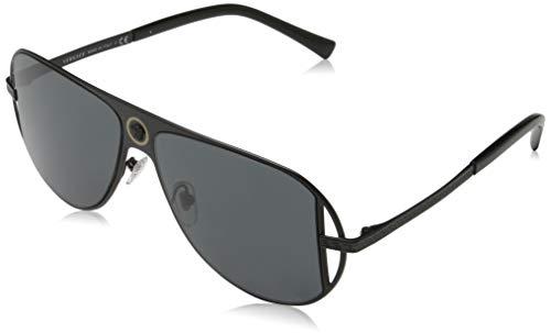 VERSACE Herren 0VE2212 Sonnenbrille, Schwarz (Matte Black), 56.0