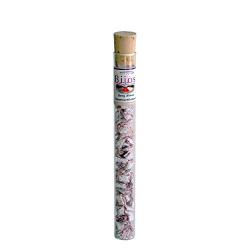 Räucherwerk Weihrauch in 35 ml Glasröhre Berg Athos Rosenweihrauch - wirkt herzöffnend und steht für Sanftmut und Liebe