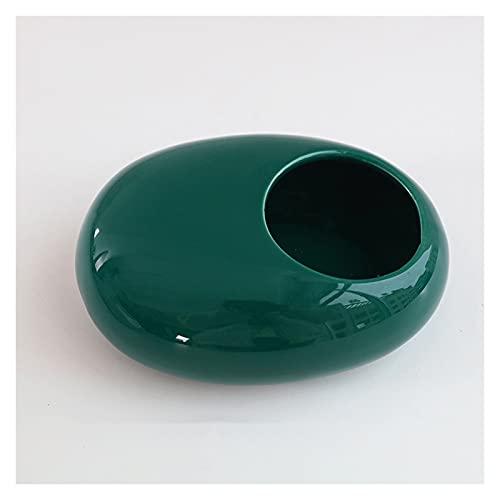 Cenicero Bandejas de ceniza de escritorio bandeja de ceniza de cerámica creativa de 6 pulgadas de gran capacidad para el hogar barra de oficina al aire libre a prueba de viento a prueba de viento (neg