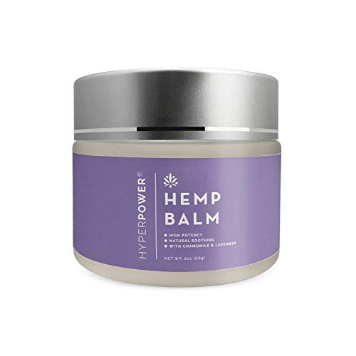 HyperPower Hemp Balm, Hemp Muscle Recovery Salve with Lavender, Chamomile and Beeswax, Soothing Ointment for Dry Skin, Natural Plant Based Ingredients, 2 oz jar