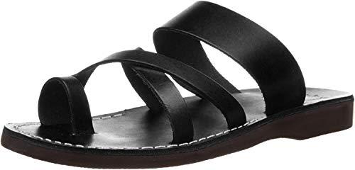 The Good Shepherd - Leather Toe Loop Sandal - Mens Sandals Black