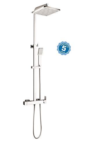 Conjunto de ducha con grifo monomando,barra y rociador con garantia de 5 años