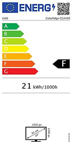 "Eizo CG2420 24.1"" Full HD IPS Negro Pantalla para PC LED Display - Monitor (61,2 cm (24.1""), 400 CD/m², 1920 x 1200 Pixeles, 10 ms, LED, Full HD) 19"