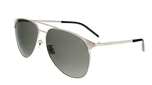 Saint Laurent SL 279 003 - Gafas de sol para hombre, color plateado