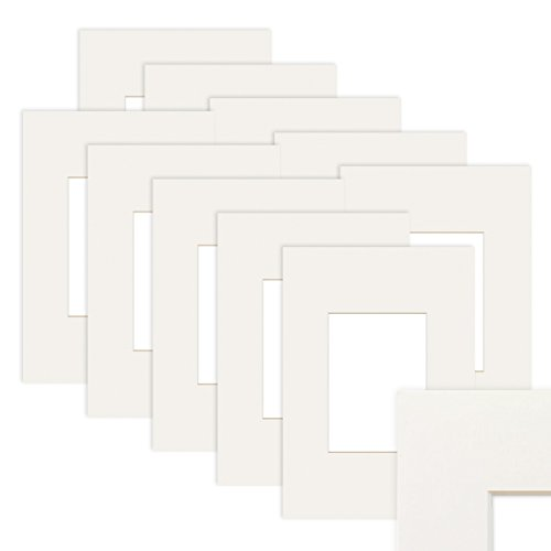 PHOTOLINI 10x Passepartout Weiß 15x20 cm (10x15 cm)