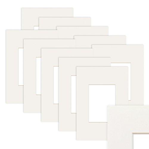 PHOTOLINI 10x Passepartout Weiß 30x40 cm (20x30 cm)