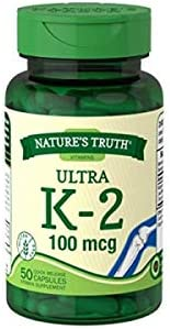 Nature's Truth Ultra Vitamin K-2 mcg 100 3 Max 67% OFF 50 Count Max 85% OFF
