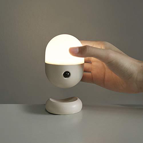 YanBei Baby Nachtlicht mit Bewegungsmelde Treppenhaus Wandleuchten, LED Bewegungssensor Licht,Schrankbeleuchtung, USB Wiederaufladbar mit Für Flur,Schlafzimmer,Schrank,Kabinett,Reise.(Grau)