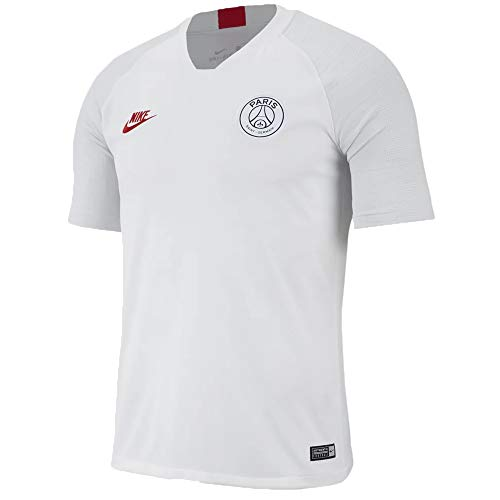 Nike Herren Breathe Paris Saint-Germain Strike Unterhemd, Weiß/Platin/Rot (White/Pure Platinum/University red), XS