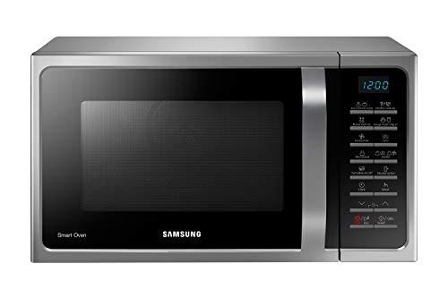 Samsung MC28H5015AS/EG Kombi-Mikrowelle mit Grill und Heißluft / 900 W / 28 L Garraum (Extra groß) / 51,7 cm Breite / Hefeteig-/Joghurt-Programm / silber