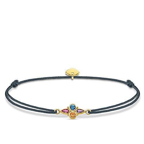 Thomas Sabo Damen-Armband Little Secret Farbige Steine 925er Sterlingsilber Gelbgold LS076-300-7-L20v