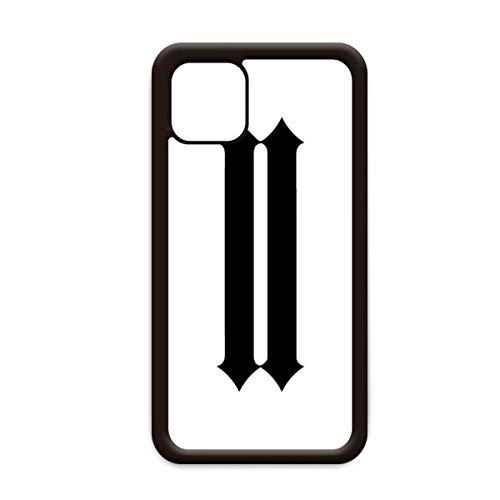 Romeinse cijfers Twee In Zwart silhouet voor Apple iPhone 11 Pro Max Cover Apple Mobiele Telefoonhoesje Shell, for iPhone11 Pro