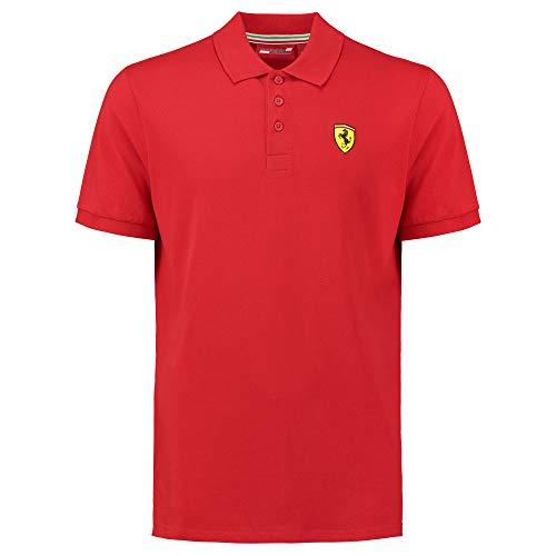 Scuderia Ferrari 2018 Herren Poloshirt im klassischen Stil, Baumwoll-Piqué, Größen XS-XL