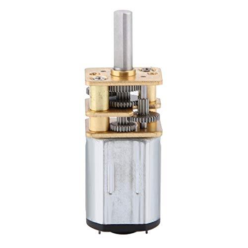 Vbestlife Motor de CC de Engranaje de reducción de Velocidad, N20 DC3V 6V 12V 50-2000RPM, con Caja de Cambios de Metal, para Motor de Bricolaje Modelo de Robot de Coche RC
