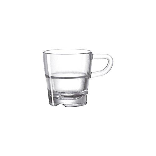 Leonardo 024012 Transparent Espresso 1pc (s) Cup/Mug – Cups & Mugs (exprimé, Single, Transparent, Glass, 1 pc (s), 80 mm)