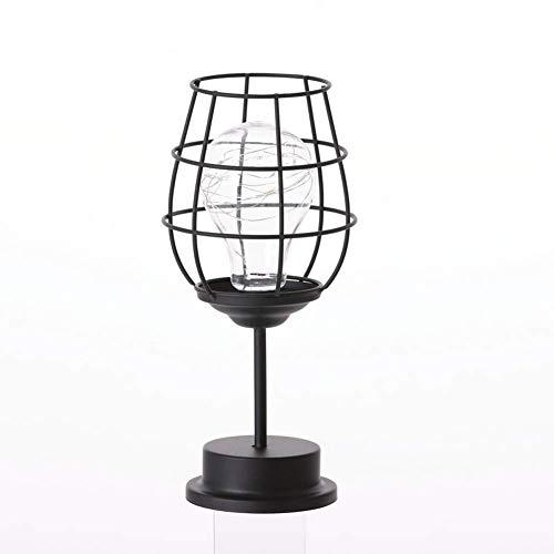 LLLQQQ Nordic Eisen Weinglas Flasche Dekoration Mini Kupfer Lichter Zimmer Schlafzimmer Kreative LED Nachtlichter