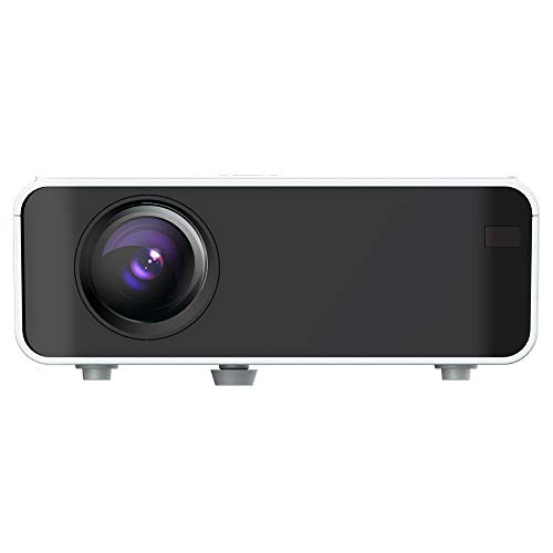 Topiky LED Smart projector, Mini 1080P HD videoprojector, 1500 lumen HDMI 3D home theater filmprojector met ingebouwde luidspreker, 30000 H levensduur van de lamp, voor thuis, entertainment, kantoor, etc., EU.