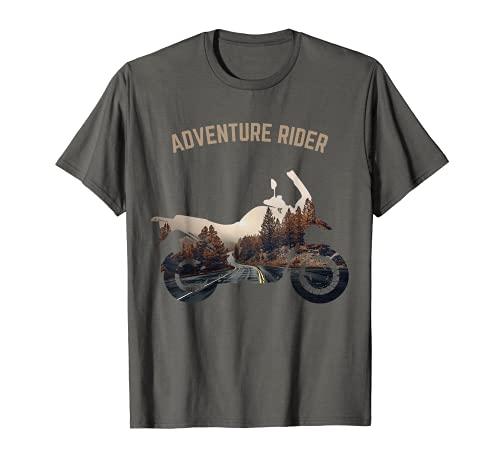 Aventura Motocicleta Motorista Off Road Rider Mountain Travel Camiseta