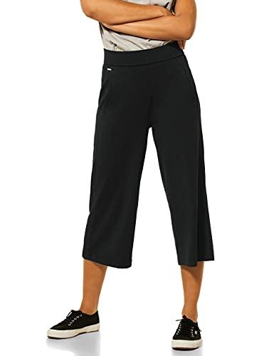 Street One Culotte Pantaln, Negro, 36W x 22L para Mujer