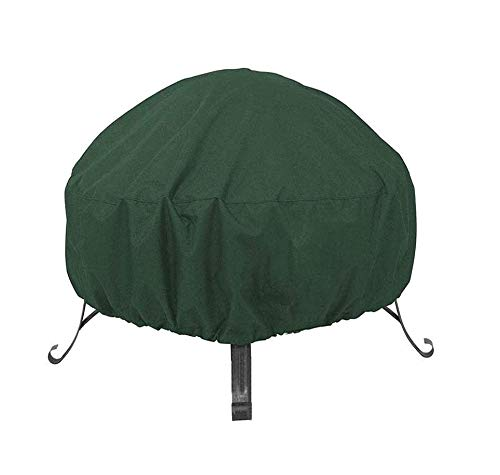 MeteorFlying Round Fireplace Cover Garden Patio Protective Cover Breathable Waterproof Dustproof Heavy Duty Furniture Covers for Stove (122x46cm, Green)