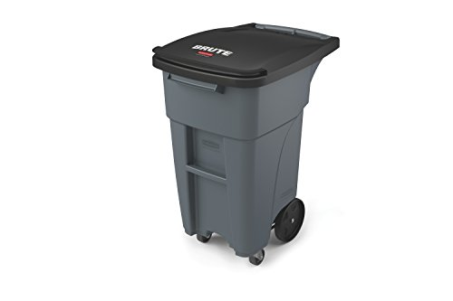 Rubbermaid Commercial 1971947 Brute Rollout Trash Can with Casters, 32 gal/120 L, 37.160' Height,...