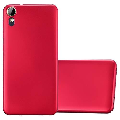 Cadorabo Hülle für HTC Desire 10 Lifestyle/Desire 825 in Metall ROT – Hardcase Handyhülle aus Plastik gegen Kratzer & Stöße – Schutzhülle Bumper Ultra Slim Back Hülle Hard Cover