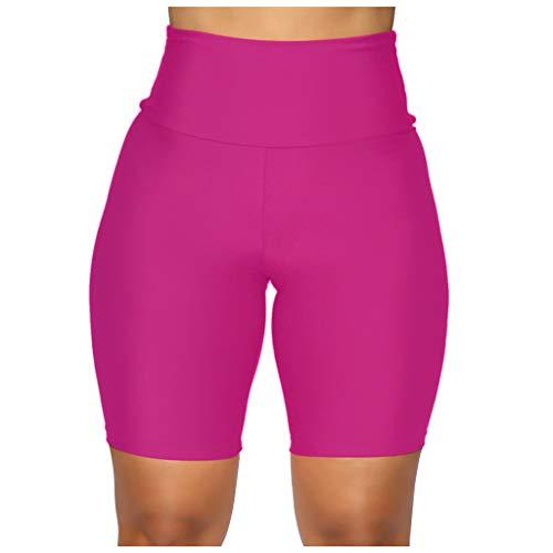 Andouy Damen Sport Leggins Hohe Taille Yogahose Blickdichte Laufhos Fitness Shorts Jogginghosen(S.Pink-1)