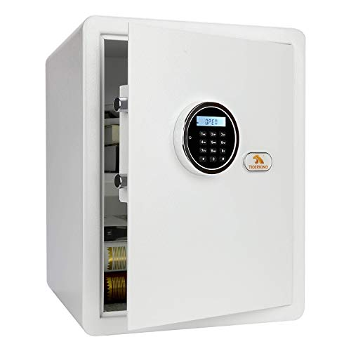 TIGERKING Security Home Safe Digital Safe Box With Key White 18 Cubic Feet