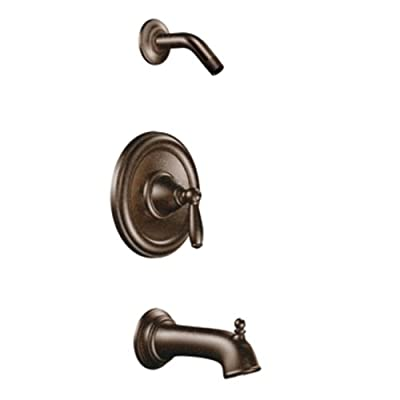 Moen T2153NHORB Brantford Posi-Temp Pressure Balancing Tub and Shower Trim Kit without Showerhead, Valve Required, Oil-Rubbed Bronze