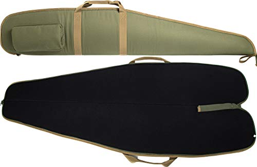 """MERALIAN Rifle Case Single Scoped Long Rifle Bag,Water-Resistant Shotgun Case with Zipper Pocket,Available Length in 44"""" 48"""" 52"""". (Green-52inch)"""