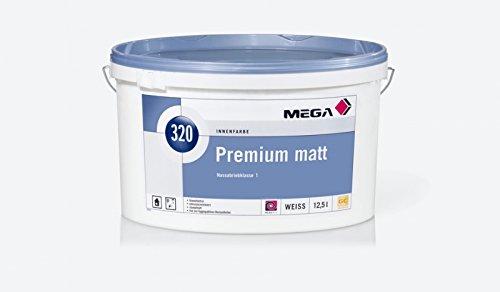 MEGA, Premium matt, Weichmacher- und lösemittelfreie, emissionsminimierte, hochwertige, doppeldeckende Kunststoffdispersionsfarbe, 12,5 l