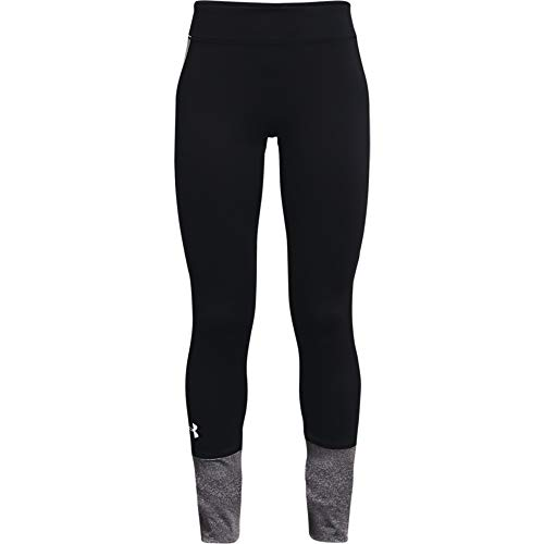 Under Armour Girls' ColdGear Leggings , Black (001)/White , Youth Small