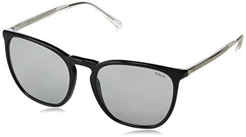 Polo Ralph Lauren Herren PH4141 Sonnenbrille, Schwarz (Schwarz / Hellgrau), 54